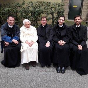 Besuch bei Papst em. Benedikt XVI. © Erzabtei