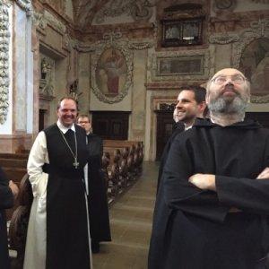 Mit Abt Nikolaus in der Stiftskirche Schlierbach © Erzabtei