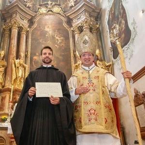 fr. Johannes mit Erzabt Korbinian © Tschepp/Krone