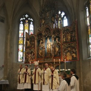 Beim Pontifikalamt © Erzabtei