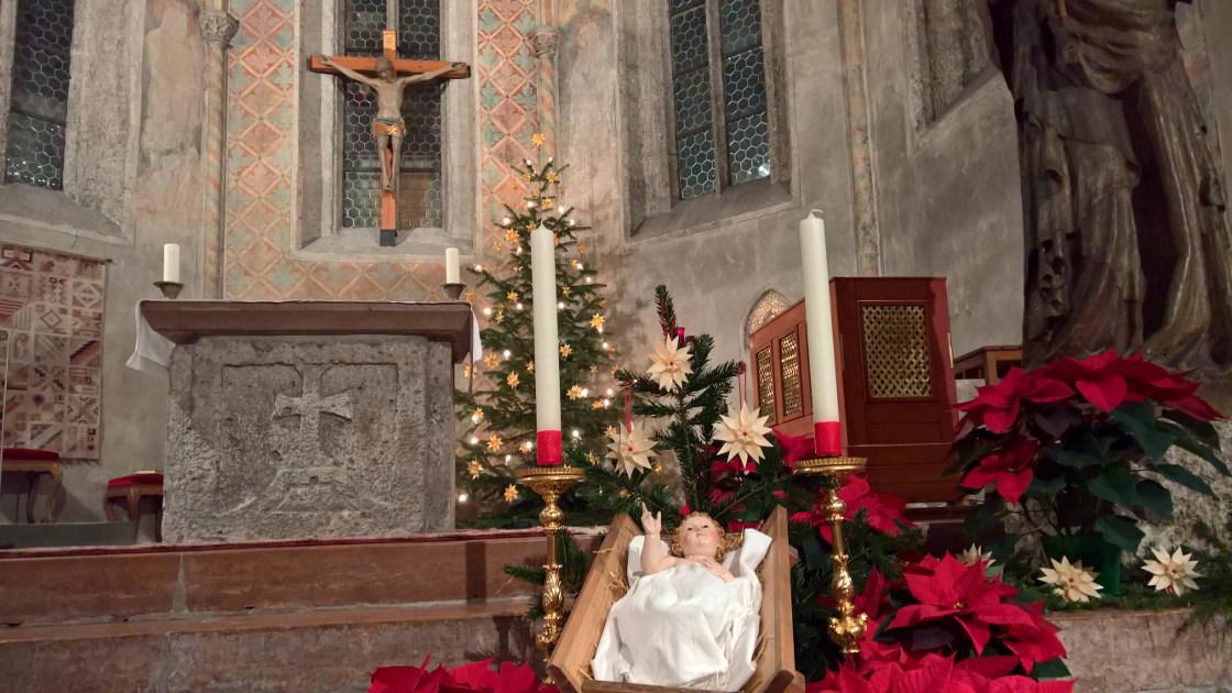 Weihnachtlich geschmückte Marienkapelle © Erzabtei
