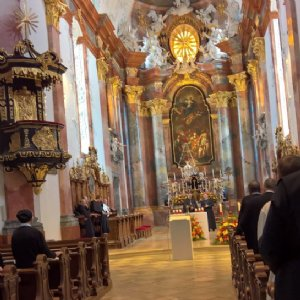 Bei der Vesper in der Stiftskirche Altenburg © Erzabtei