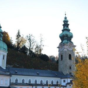 Blick auf die Stiftskirche © Erzabtei