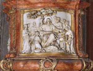 Bergpredigt, Relief am Kanzelkorb