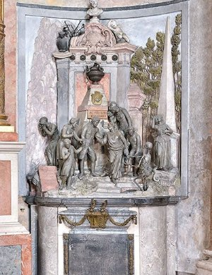 Grosserdenkmal beim nördlichen Seitenaltar im frühklassizistischen Stil