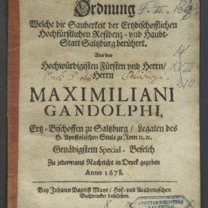 Sauberkeitsordnung von Maximilian Gandolph © Stiftsarchiv