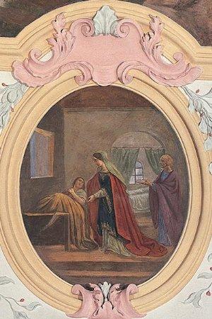 Deckenbild hl. Elisabeth als Helferin der Kranken