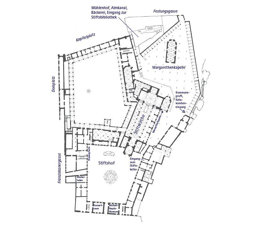 Grundriss der Kirche