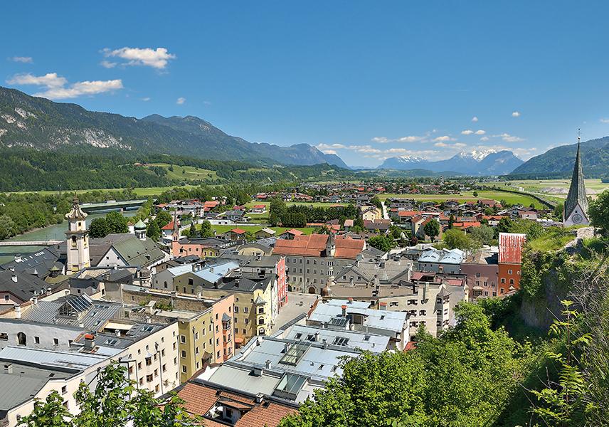 Blick auf die Stadt Rattenberg