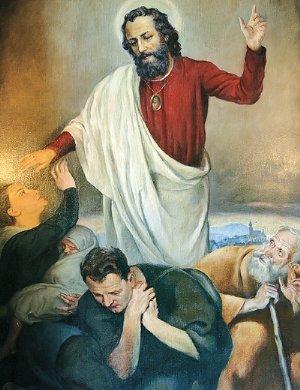 Gemälde des Judas Thaddaeus, verehrter Helfer in höchster Not, um 1928, von den Salvatorianern in Auftrag gegeben
