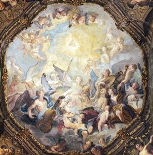 Barockes Deckenfresko in der Alexander-Sauli-Kapelle, um 1720