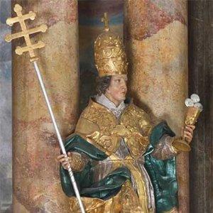 Statue des Papstes Telesphorus