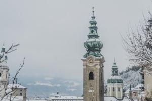 Kloster Kirchtürme Winter © Michael Rieß